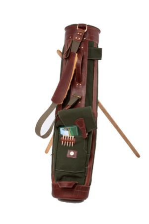 Vintage Canvas Sunday Golf Bag Shop for the best in Golf Push Carts and More at  http://bestgolfpushcarts.net/product-category/golf-push-carts/bag-boy/