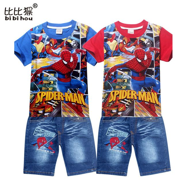 We love it and we know you also love it as well fashion 2017 spiderman children clothing set for kids cartoon baby jeans suit retail boys short sleeve t shirt pants boy clothes just only $14.89 - 16.29 with free shipping worldwide  #boysclothing Plese click on picture to see our special price for you