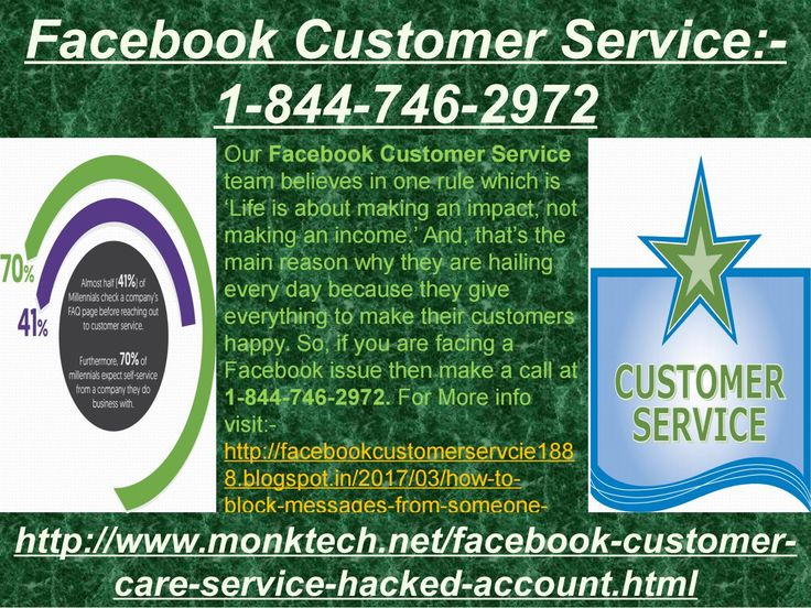 Do you have knowledge of Facebook Customer Service:-1-844-746-2972? Our Facebook Facebook Customer Service team's expert always consider their customers issues as their own because they know that if they fail while terminating the Facebook issues then their customers will definitely suffer because of those issues and that's the main reason when they always got the success over the issues. Just dial 1-844-746-2972 to contact us. More explore, visit here…