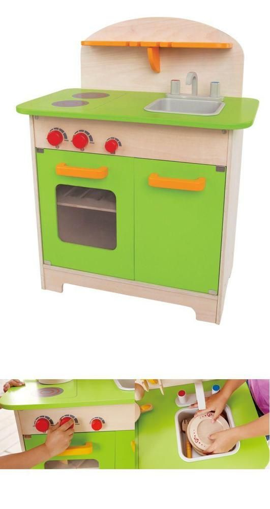 Wooden Kitchen Kids Toys Green Big Red Knobs Realistic Experience Kitchen #Hape=> Easy & pleasant transaction => Quick delivery => 100% Feedback => http://bit.ly/24_hours_open ,#24_hours_open,#Kids,#Toys,#Realistic,#Activity,#Wood