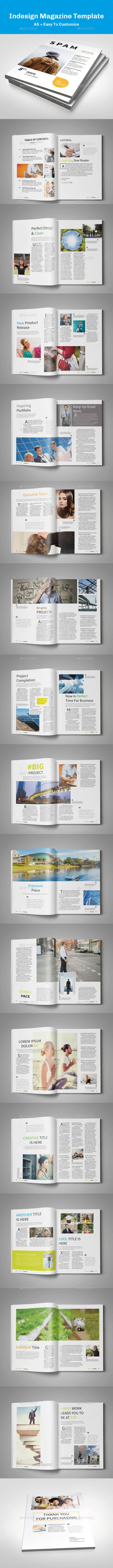 15 best A5 and Digest InDesign Magazine Templates images on ...