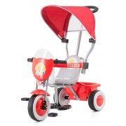 Triciclo Chipolino con cappottina SPRING Rosso