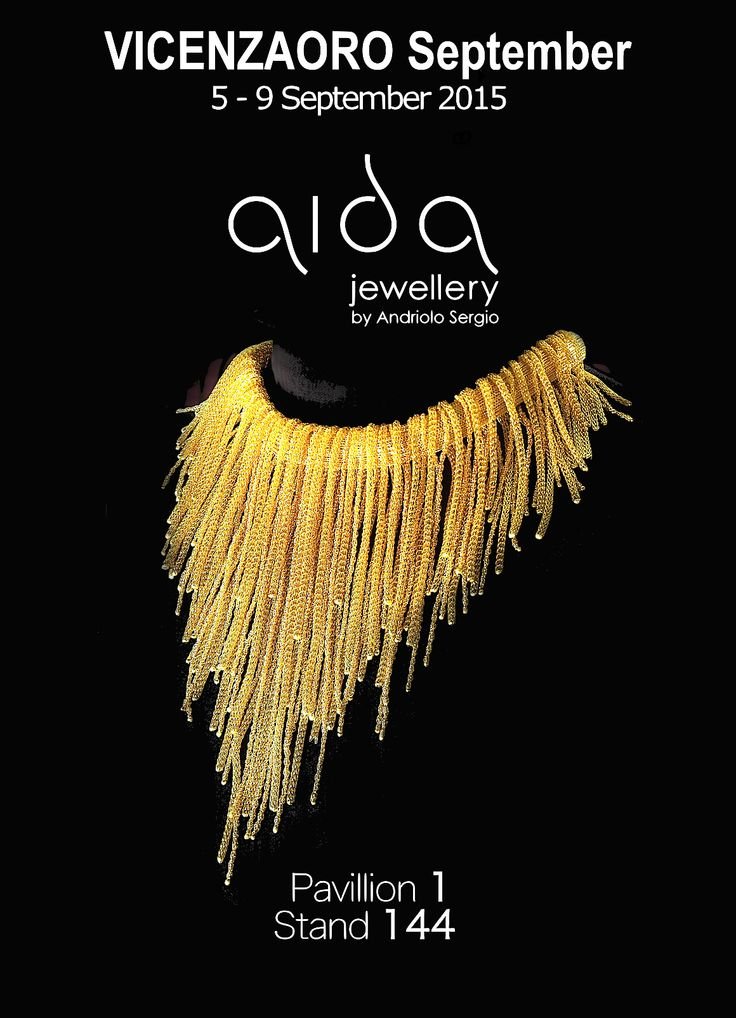 Aida Jewellery by Andriolo Sergio Coi Srl at VICENZAORO Pav. 1 Booth 144  Gold Cascade  Unique and customized masterpieces designed and handmade in Italy www.aidajewellery.com