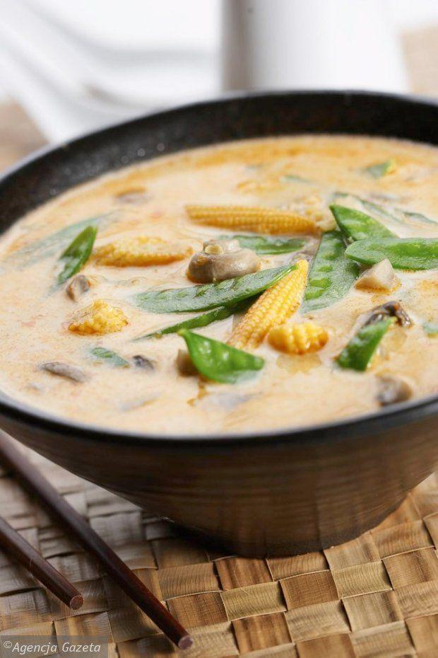 Pikantna zupa z pieczarkami