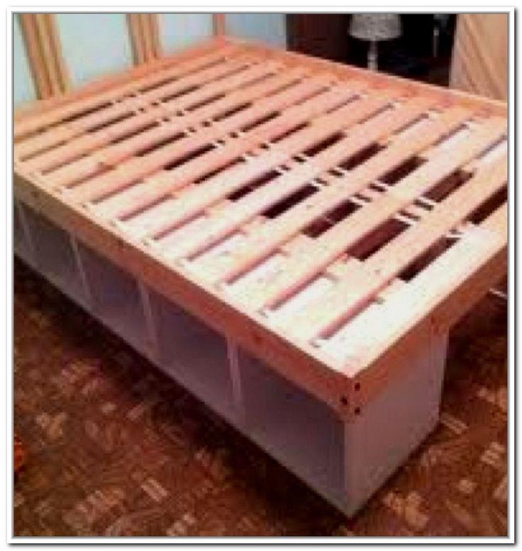 17 best ideas about bed frame storage on pinterest diy bed frame diy storage bed and bed. Black Bedroom Furniture Sets. Home Design Ideas