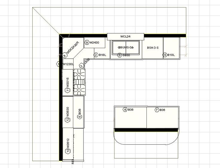 Best 12 X 12 Kitchen Layouts With Floating Island Click On 400 x 300