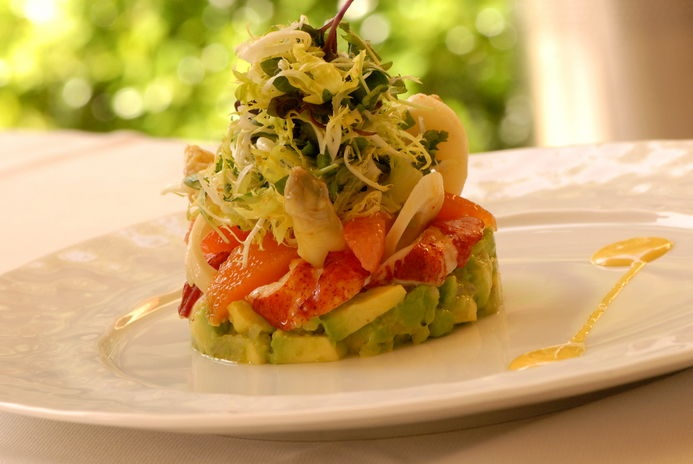 Lobster Salad with White Asparagus, Hearts of Palm, Avocado, Citrus ...