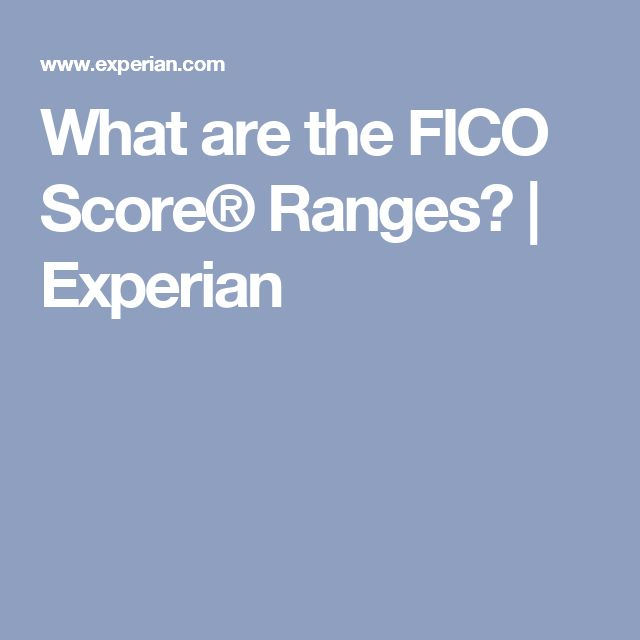 What are the FICO Score® Ranges? | Experian