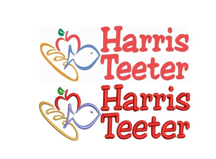 Harris teeter logo digitizing for embroidery dst pes emb