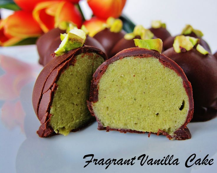 Raw Pistachio Rose Truffles by Fragrant Vanilla Cake