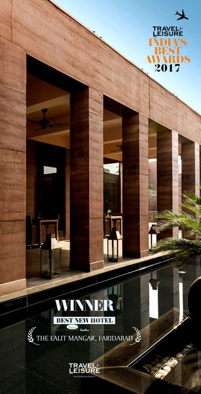 The Lalit Mangar won 'Best New Hotel' at the 2017 Tavel & Leisure India awards!  Congratulations Alva Architects and thanks for giving us the opportunity to serve. #rammedearth #engineeredsandstone #sirewall