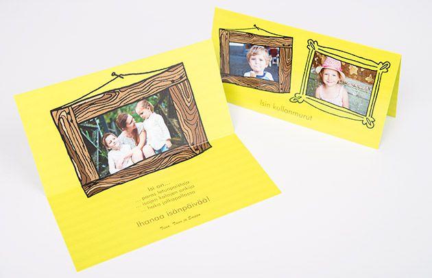 Koskettavimman onnittelukortin isälle teet omista kuvista - Isänpäivän lahjat ifolorilta http://www.ifolor.fi/inspire_isanpaivan_lahjaopas