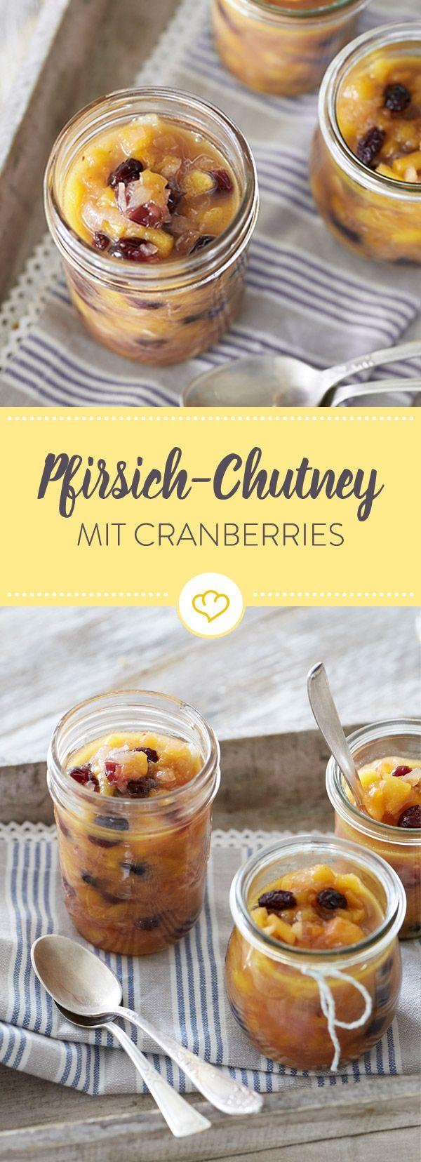 Perfekt für gesellige Grillabende: Sommeraromen in einem Glas vereint beschert dir dieses wunderbar fruchtige Pfirsich-Chutney.