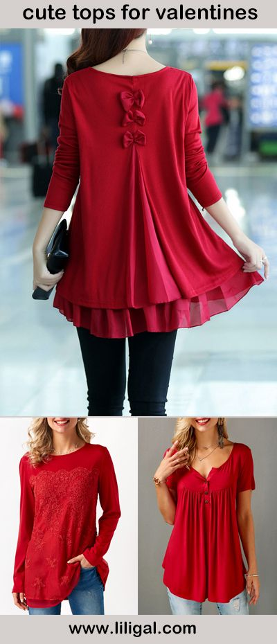 cute tops, sweet blouses, what to wear in valentines day, sweet tops for valentines day, red tops, valentine's day outfit ideas tops, valentine's day outfit ideas red         #liligal #blouse #shirts #top #womenswear #womensfashion