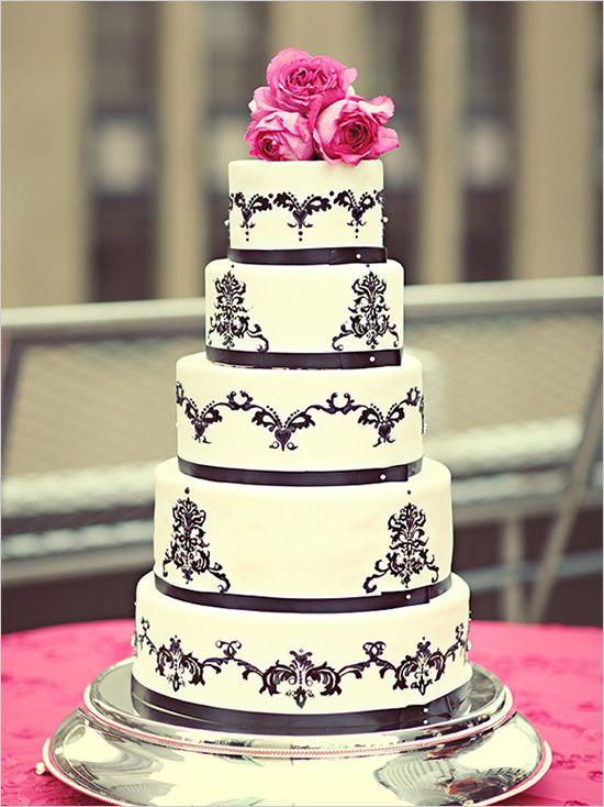 Elegant Cake Decorations : Best 25+ Damask wedding cakes ideas on Pinterest
