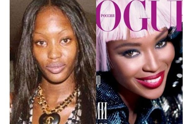 Real life: Celebrities without makeup. Photoshop. All ...