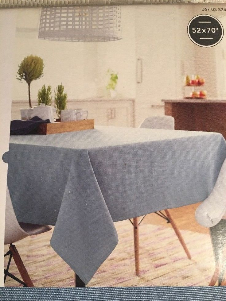 "Threshold Oblong Tablecloth Seats 4 to 6 52"" x 70"" - Light Blue - NEW    eBay"