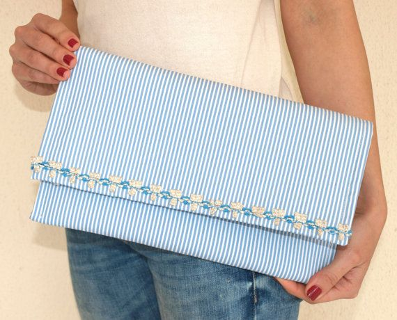 Handmade Clutch Bag / Summer Purse / Cotton Bag / Spring by Ulook, €20.00