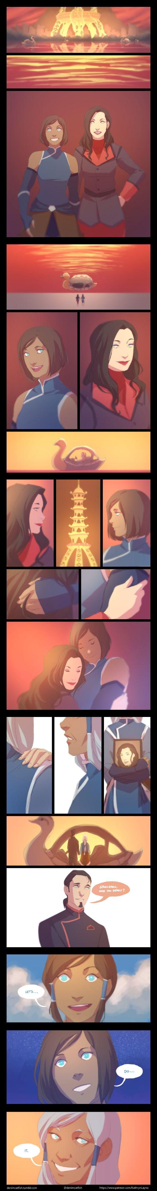 I didn't need my heart anyway :'( | KorrAsami / Korra & Asami Sato | Avatar the legend of korra lok | Canon Couple