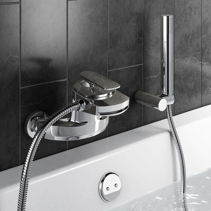 Bath Mixer Tap with Shower | Oshi Chrome Bath Tap - BathEmpire