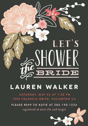 Bridal Shower Invitation Ideas http://www.confettidaydreams.com/bridal-shower-invitation-ideas/