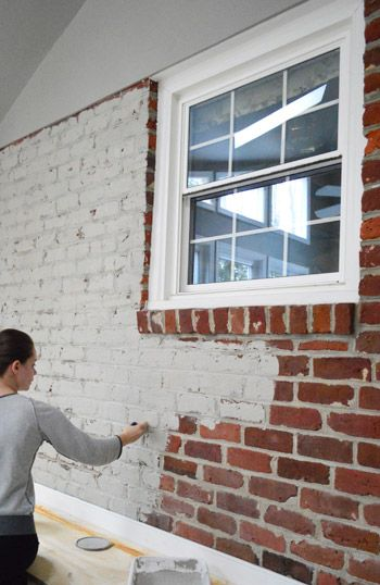 How To Paint A Brick Wall And Unify Choppy Room Our Diy Projects Pinterest House Home