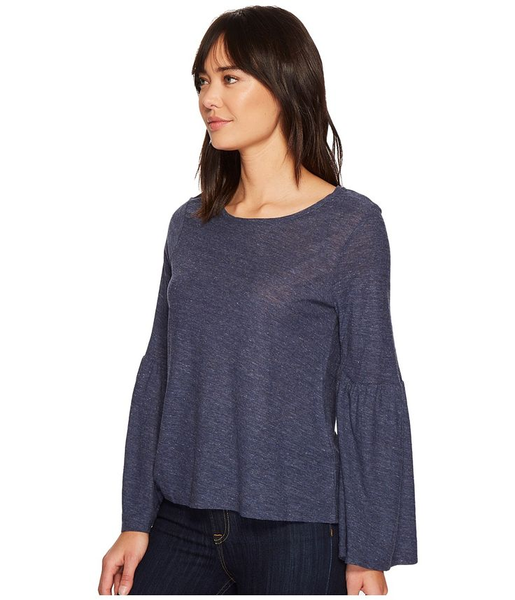 TWO by Vince Camuto Bell Sleeve Cotton Modal Slub Top