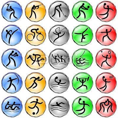 Olympic Simbols Crystal Web Icons-Vector © #Bluedarkat - on #Fotolia!