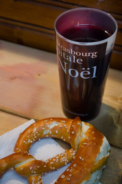 Vin Rouge Chaud and a Bretzel! Photo © 2013 Aaron Saunders