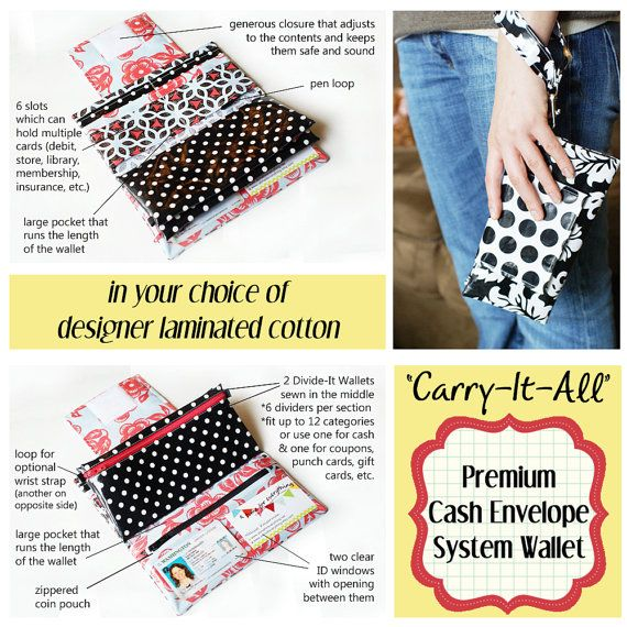 Carry It All Cash Envelope System Wallet for by ATime4Everything, $62.00