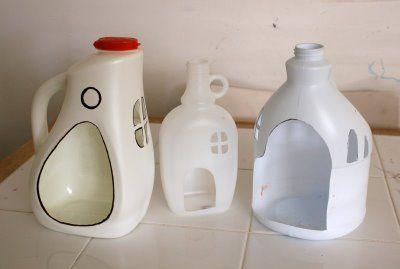Riciclo creativo bottiglie di detersivo - lavoretti per bambini