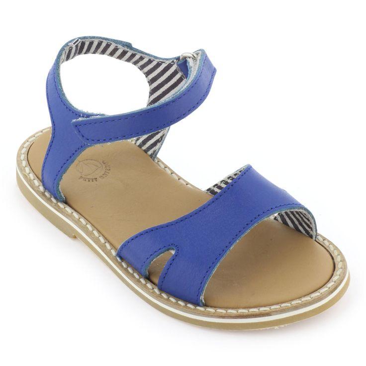 Blue leather sandals from Petit Bateau - 65,00 €