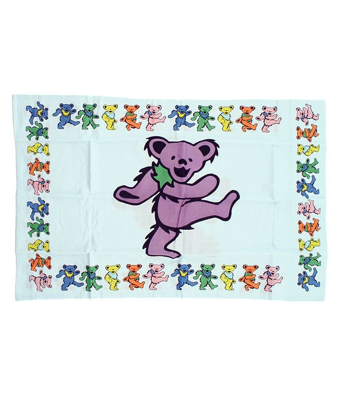 Liquid Blue Grateful Dead Dancing Bear Pillowcase Blue. Officially Licensed Rock and Roll Merchandise | Gifts & Accessories