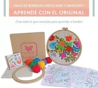 Pack De Bordado Mexicano, Envios A Todo El País. - $ 700,00