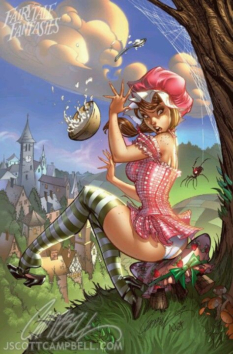 J. S. Campbell's Fairytale Fantasies miss muffet