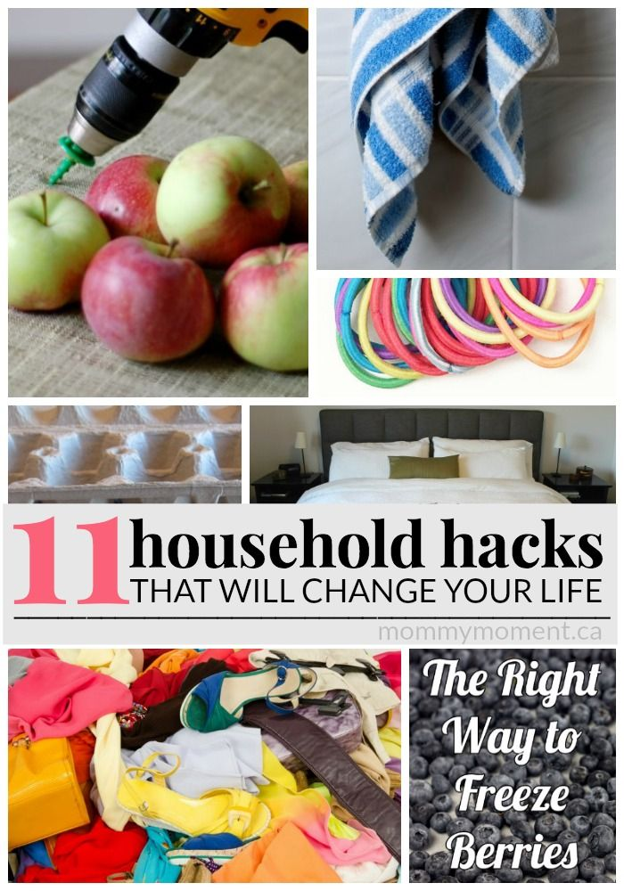 We all have those areas in our houses that we can't figure out how to clean, or items that we think should be EASIER than this to clean. People everywhere seem to have that one household hack that when we hear about it, we can't live without it. So, we asked and complied a list of 11 HOUSEHOLD HACKS that people said have changed their life!
