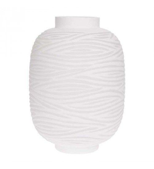 GLASS VASE IN WHITE COLOR 20X20X26