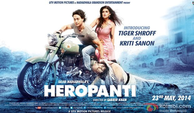 Heropanti is a Bollywood action-romance film released on May 23, 2014. It marks the debuts of Tiger Shroff and Kriti Sanon in Bollywood in lead roles alongside Sandeepa Dhar, who acts in a pivotal role. Heropanti is the remake of the Telugu film Parugu, with Prakash Raj playing the same role from the original film.