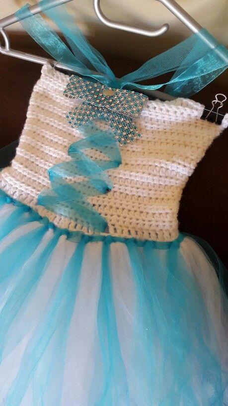 Crochet frozen tutu dress