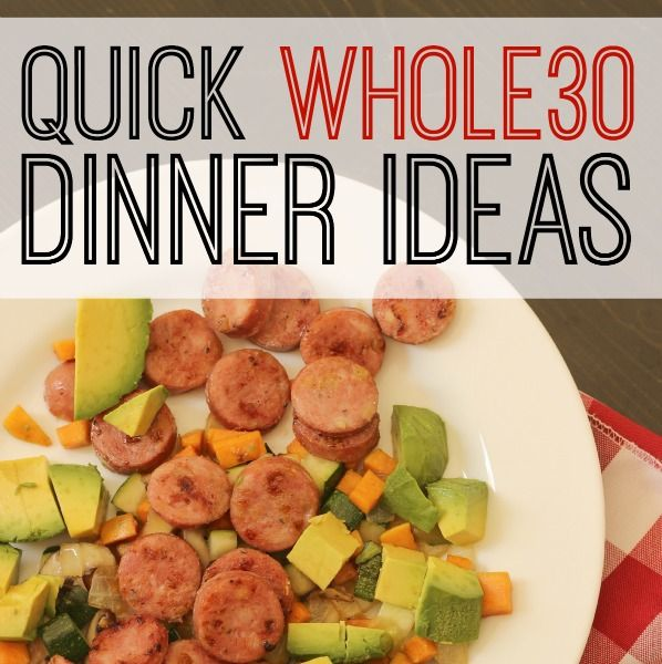 Breaking the hold of quick, processed foods can be hard. Try these Quick Whole 30 Dinner Ideas to eat real good food, real quick.