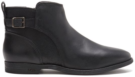 UGG Women's Demi Leather Flat Ankle Boots Black