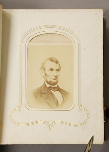 Why did Arabella Chapman include a picture of Abraham Lincoln in her photo album? Was it because of his push for the abolition of slavery or was there some alternate reason? #umichDAAS #ArabellaChapman #AbrahamLincoln #UniversityofMichigan