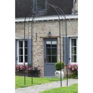 Arche de jardin en métal noir Nature 6040802