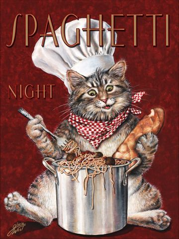 Cat Chef Spaghetti Night (Gloria West)