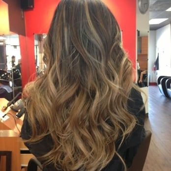 Clear baby blonde ombré done by the amazing David - Yelp