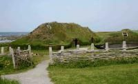 L'Anse aux Meadows, site of Leif Erikson's 11th century camp in New Foundland.