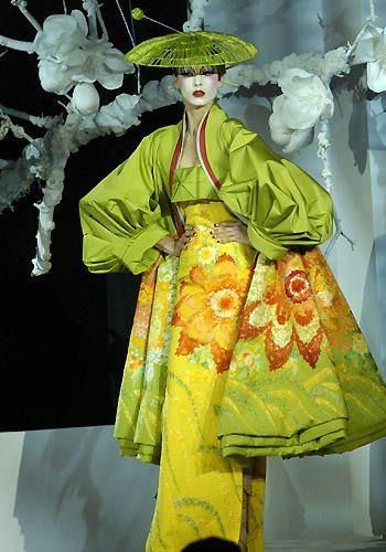 Galliano couture | Dior haute couture ss 2007 style japonisant