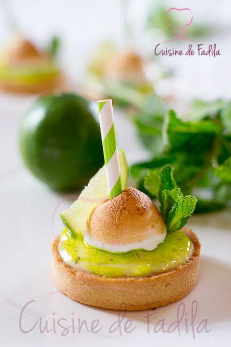Tartelettes Mojito à la crème citron vert et menthe
