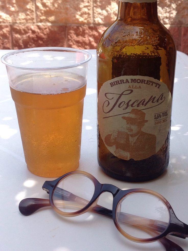 Iskold special Moretti øl på Elba - godt i varmen!