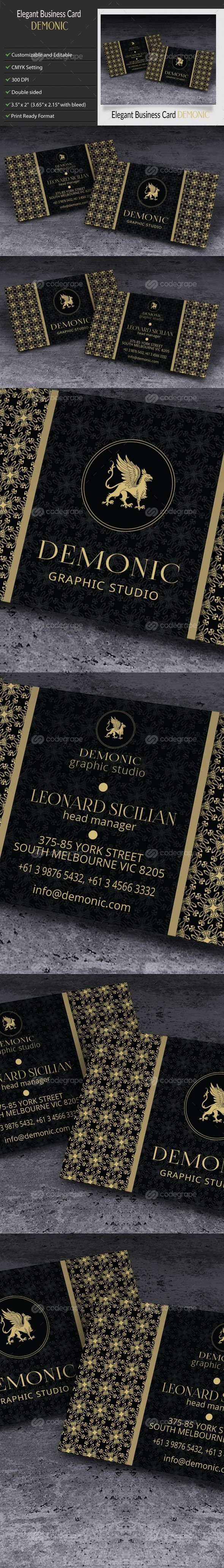 Elegant Creative Business Card – Demonic on @codegrape. More Info: http://www.codegrape.com/item/elegant-creative-business-card-%e2%80%93-demonic/9418